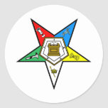 oes_chapter_clear classic round sticker