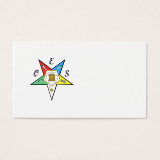 Order of eastern star business cards templates zazzle eastern star business card 3085 oes chapter profile card reheart Image collections