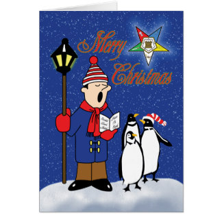 OES Christmas Penguins Card