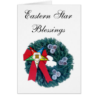 OES Christmas Wreath Card -Eastern Star Blessing