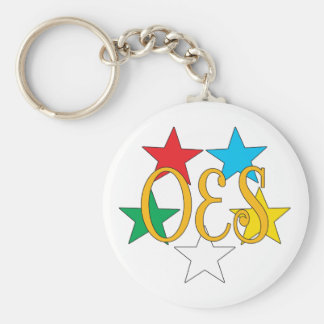 OES Circle of Stars Keychain