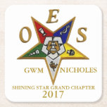 """OES CUSTOM SQUARE COASTERS<br><div class=""""desc"""">The Order of the Eastern Star is the largest fraternal organization in the world to which both women and men may belong</div>"""
