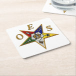 "OES CUSTOM SQUARE COASTERS<br><div class=""desc"">The Order of the Eastern Star is the largest fraternal organization in the world to which both women and men may belong</div>"