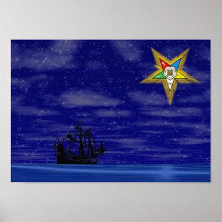 OES EASTERN STAR PRINT