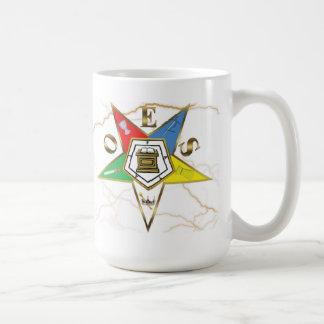 OES Faux Marble Classic White Coffee Mug