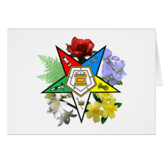OES Floral Emblem Card