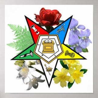 OES floral Emblem Poster