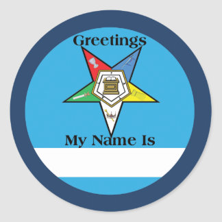 OES Greetings Sticker