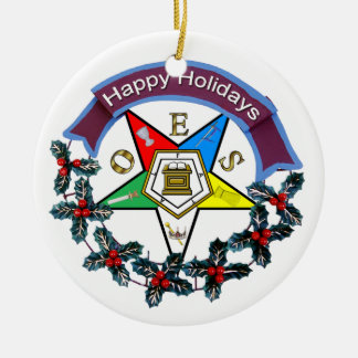 OES Holiday Wreath Christmas Ornaments