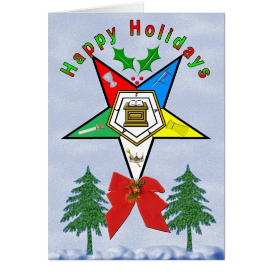 OES HOLLY GREETING CARDS