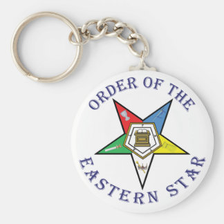 OES LETTERED BASIC ROUND BUTTON KEYCHAIN