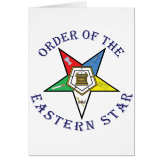 OES LETTERED CARD
