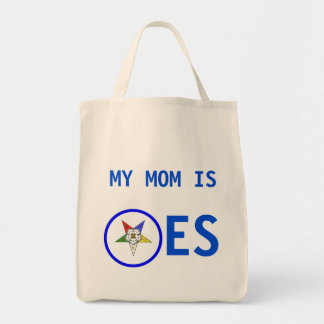 OES MY MOM IS TOTE BAG