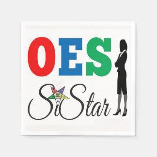 OES Napkins PHA Order Of Eastern Star