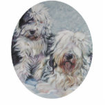 "oes old english sheepdog Christmas Ornament<br><div class=""desc"">from an original painting by L.A.Shepard</div>"