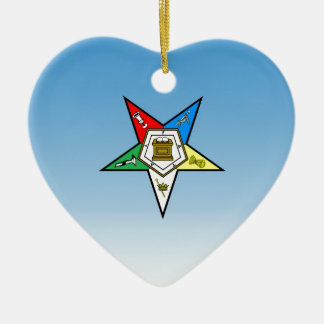 OES Order of the Eastern Star Blue Ceramic Ornament