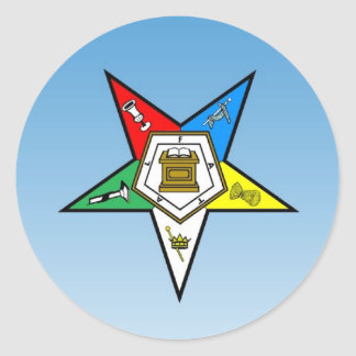 OES Order of the Eastern Star Blue Classic Round Sticker