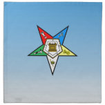 OES Order of the Eastern Star Blue Cloth Napkin