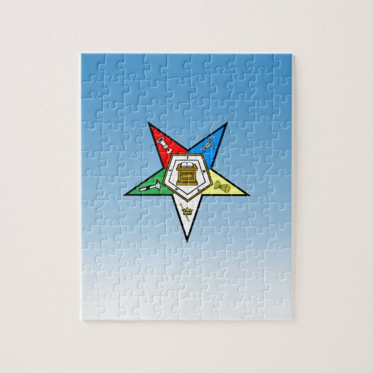 OES Order of the Eastern Star Blue Jigsaw Puzzle