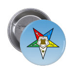OES Order of the Eastern Star Blue Pinback Button