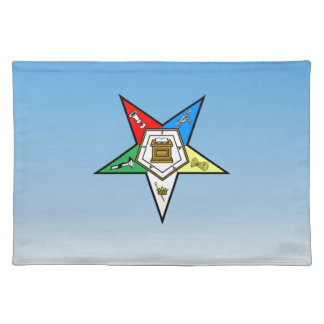 OES Order of the Eastern Star Blue Placemat