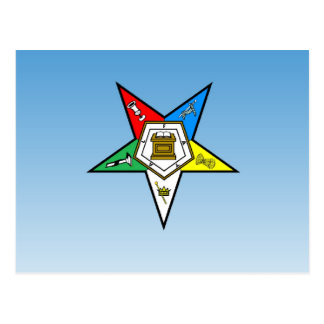 OES Order of the Eastern Star Blue Postcard