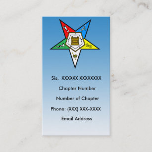 Order of the eastern star business cards zazzle oes order of the eastern star business card 5 reheart Images