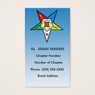 Eastern star business cards templates zazzle oes order of the eastern star business card 5 reheart Image collections