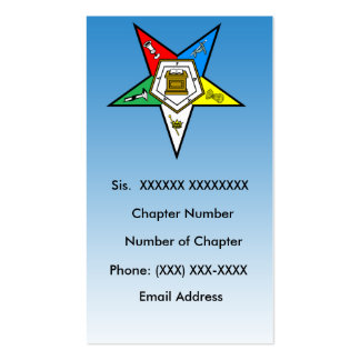 OES Order of the Eastern Star  Business Card 5