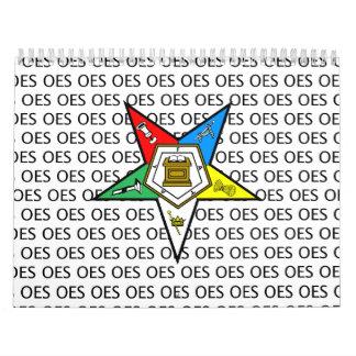 OES Order of the Eastern Star Calendar