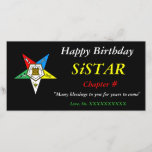 """OES Order of the Eastern Star Happy Birthday<br><div class=""""desc"""">OES Greeting Card with Photo Quality Material</div>"""