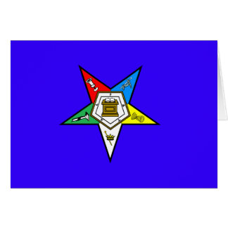 OES Order of the Eastern Star Notecard Blue
