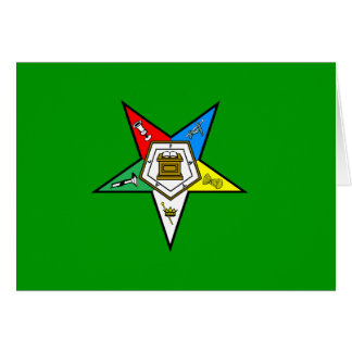 OES Order of the Eastern Star Notecard Green