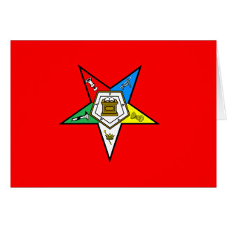 OES Order of the Eastern Star Notecard Red