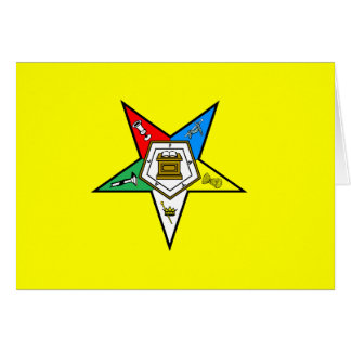 OES Order of the Eastern Star Notecard Yellow