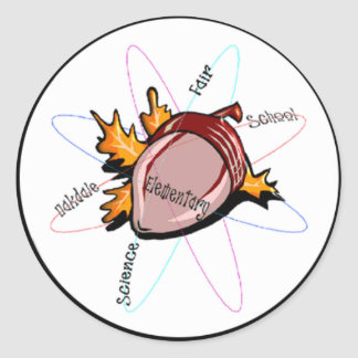 OES Science Fair Swag Classic Round Sticker