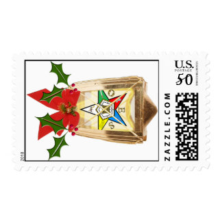 OES Star Holiday Lantern Postage