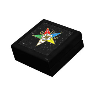 OES TILE STARS TILE BOX KEEPSAKE BOX