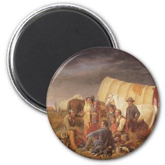Oeste americano del vintage, consejo sobre pradera imán redondo 5 cm