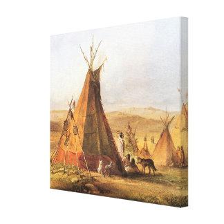 Oeste americano del vintage, tiendas de los indios lienzo envuelto para galerías
