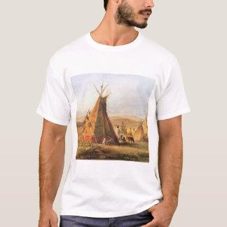 Oeste americano del vintage, tiendas de los indios playera