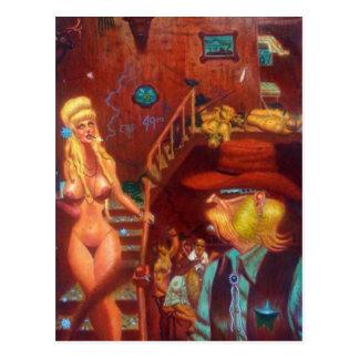 Oeste fresco salvaje tarjetas postales
