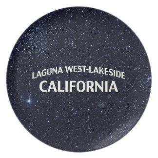 Oeste-Orilla del lago California de Laguna Plato De Cena