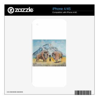 Oeste salvaje del ejemplo de Buffalo Bill iPhone 4S Calcomanía