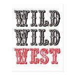 ¡Oeste salvaje salvaje! - Rojo Postal