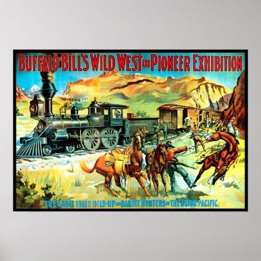 Oeste salvaje y pionero - impresión poster