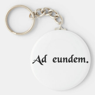 Of admission to the same degree basic round button keychain