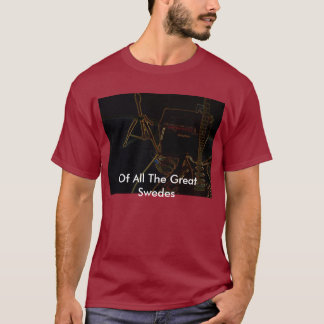 Of All The Great Swedes - Reverse Guitar - Mens T-Shirt