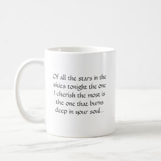 Of all the stars in the skies tonight ... coffee mug