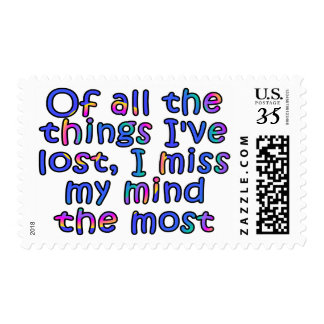 Of all the things I've lost, I miss my mind... Postage